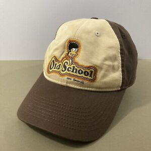 Simpsons Homer Old School Embroidered Baseball Cap Hat Anoma 2005 Brown Beige