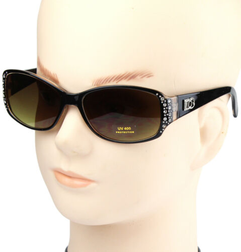 New DG Designer Womens Rhinestones Sunglasses Shades Fashion Crystal Yellow Wrap