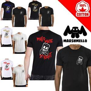T-Shirt-MARSHMELLO-maglia-maglietta-nera-bianca-DJ-personalizzata