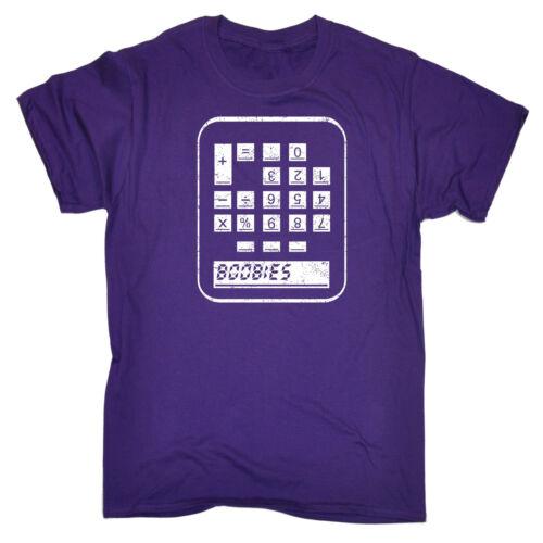 Boobies Calculator MENS T-SHIRT tee birthday sarcastic rude naughty joke funny