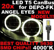 N° 20 Gloeilampen LED T5 CANBUS 4000K SMD 5630 Koplampen Angel Eyes DEPO FK 1D5