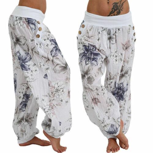 Women Ladies Baggy Hareem Leggings Harem Trousers Gypsy Hippie Boho Yoga Pants