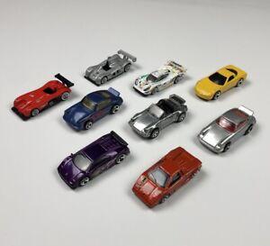 Hot-Wheels-Porsche-Lamborghini-Suelto-Lote-de-9-Autos-Diecast-Escala-1-64-E