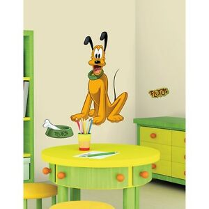 PLUTO GiaNT WALL DECALS Disney Mickey Mouse Dog Stickers Kids Bedroom Decor