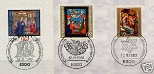 BRD-1979-1981-1982-Weihnachtmarken-Nr-1032-1113-1161-Bonn-Stempel-154