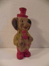 JOUET ANCIEN POUET ELEPHANT VERS 1940 SQUEAKY PUPPAZO
