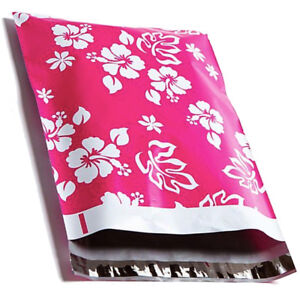 Designer-Poly-Mailers-Hawaiian-Pink-10x13-034-or-6x9-034-Mailing-Shipping-Envelopes