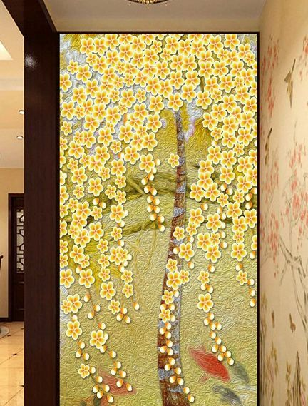 3D molti fiori 4 Parete Murale Foto Carta da parati immagine sfondo muro stampa