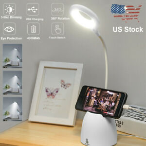 Dimmable-LED-Desk-Light-Table-Bedside-Reading-Lamp-Touch-Rechargeable-USB-Port
