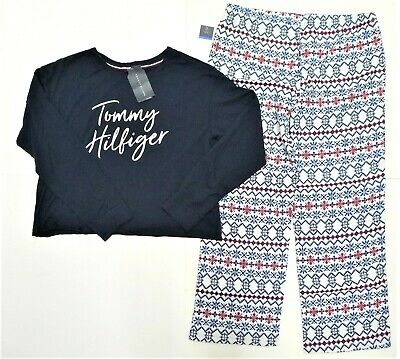NWT $68 Tommy Hilfiger Logo Women/'s Sleepwear Pajama Sets