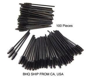 100-Disposable-Eyelash-Extension-Brushes-Black-Mascara-Wands-Applicator