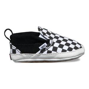 a8973154def5c9 VANS SLIP-ON CRIB (Checker) BLK TRUE WHITE Sizes 1 2 3 4 ( New Born ...