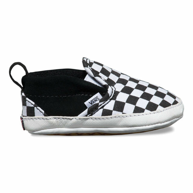 08f42220c566 VANS Cribs Born Babies Baby BOOTIES Shoes Slip on V Strap ...