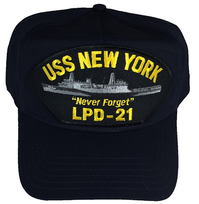 USS NEW YORK LPD-21 NEVER FORGET PATCH USN NAVY SHIP 911 AMPHIBIOUS TRANSPORT