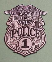 Harley Davidson Motor Cycles 1 Police Patch Free Shipping Nice Patch