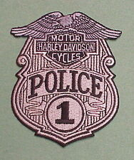 HARLEY DAVIDSON  MOTOR CYCLES  #1  POLICE PATCH   FREE SHIPPING !!  NICE PATCH!!