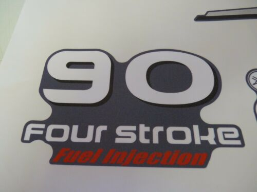 Yamaha 90 HP Four Stroke outboard engine decal sticker kit reproduction Printed