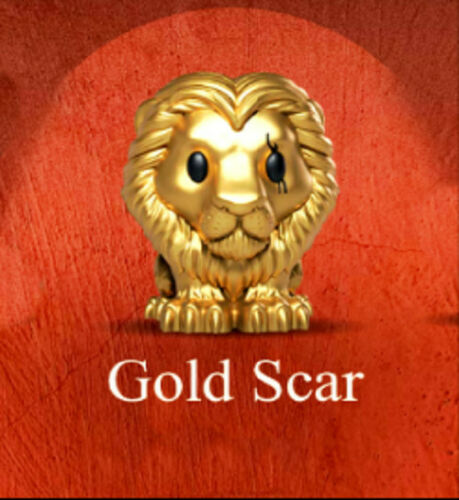 Gold Scar Woolworths The Lion King Disney Ooshies Collection