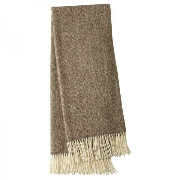 Alpaca Wool Throw Rug Herringbone