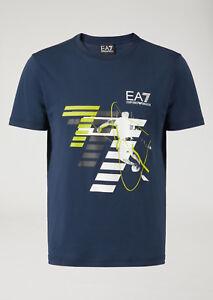 T-shirt-Uomo-Emporio-Armani-EA7-3ZPT48-PJM9Z-Maglia-Cotone-Nera-Blu-Rossa-Nuova