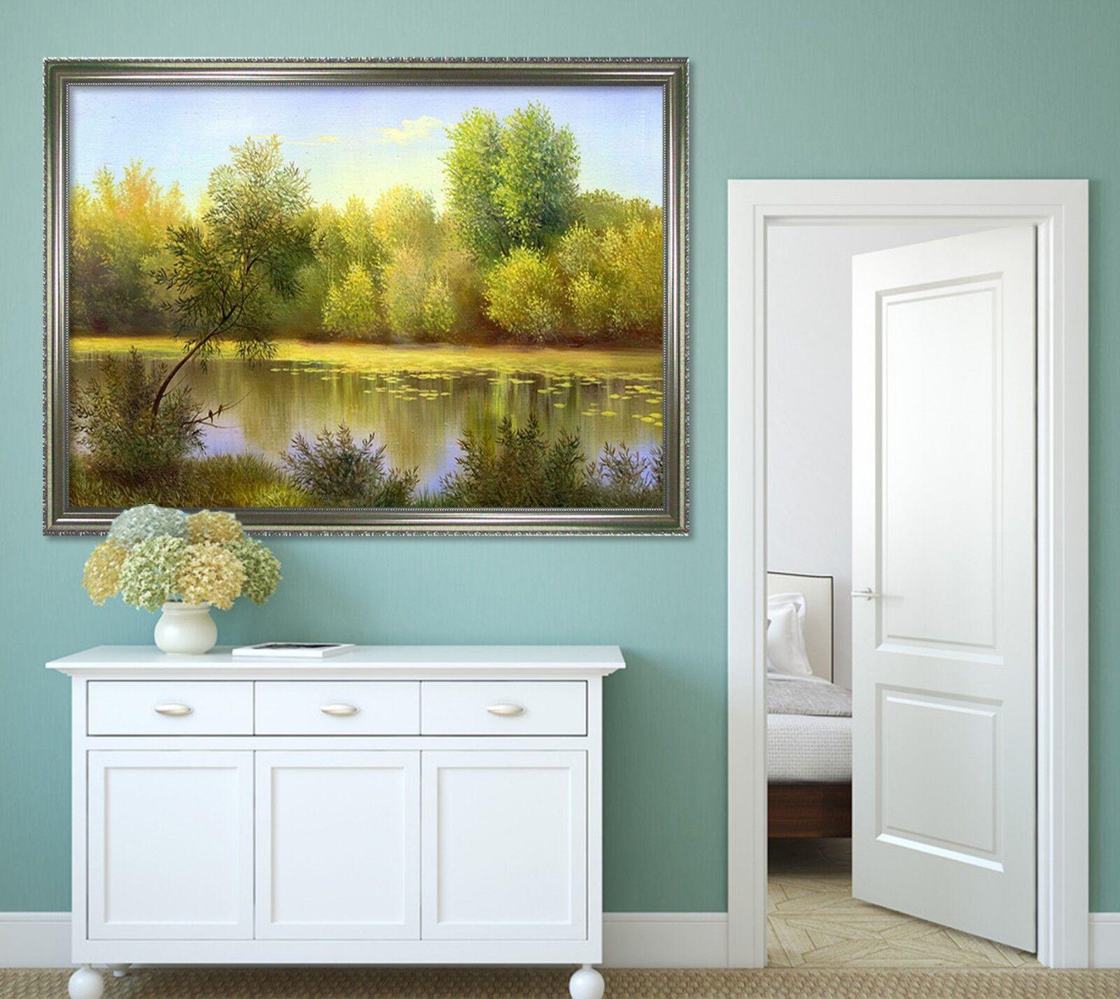 3D Tropical Jungle Lake 2 Framed Poster Home Decor Drucken Painting Kunst WandPapier