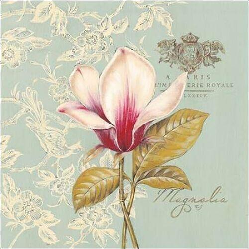 show original title Details about  /Stefania ferri magnolia canvas stretcher-image screen blue modern flowers