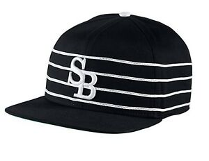 93e298419 Details about Nike SB H86 Black Stripe Dri-Fit Snapback Unisex Cap
