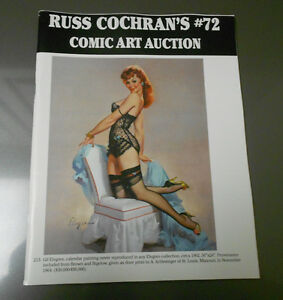 RUSS COCHRAN'S Comic Art Auction Catalog #72 NM 56 pgs Gil Elvgren