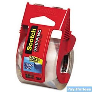 2-034-x27-7y-3-Mil-3M-Scotch-142L-Packaging-Packing-TAPE-Dispenser-12-pc