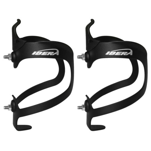 Ibera Bike Water Bottle Cage Lightweight Aluminum Bicycle Drink Cup Holder Pair
