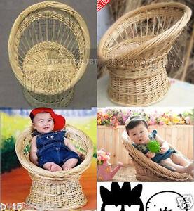 Newborn baby photography photo props handmade bassinet basket chair seat D-15