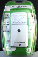 NEW Lot of 24 GE Jasco USB 2.0 SD Compact Flash 11-in-1 Card Reader Writer 97949