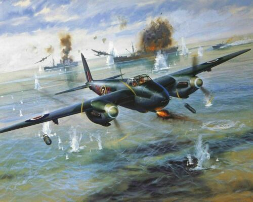 World War 2 De Havilland Mosquito Aircraft Painting Paint By Numbers Kit DIY