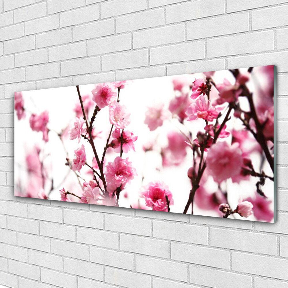 Impression sur verre Image tableaux 125x50 Floral Branches Fleurs