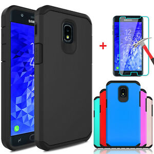 For-Samsung-Galaxy-J7-V-2018-Crown-Refine-Star-Case-Cover-With-Screen-Protector