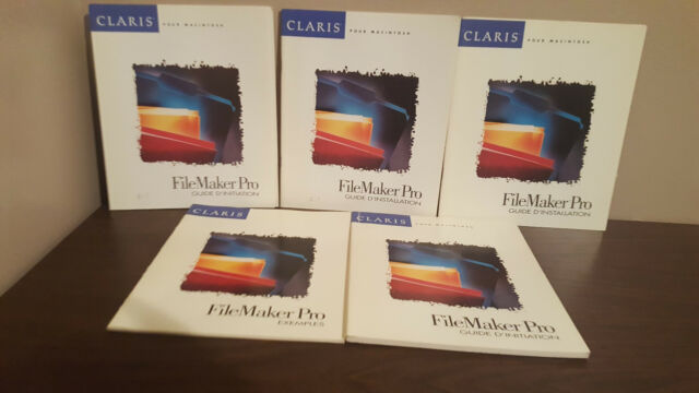 Bundle of Claris Filemaker pro 2.1 FRENCH user's guide