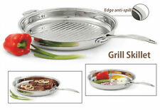 BRAND NEW Rena Ware Classic Grill Pan 36cm. Oven Safe. Stainless Steel