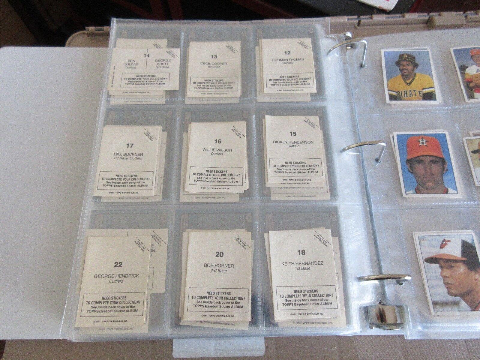 Miscellaneous Lot , Mini Baseball STICKERS , 1981 , Top