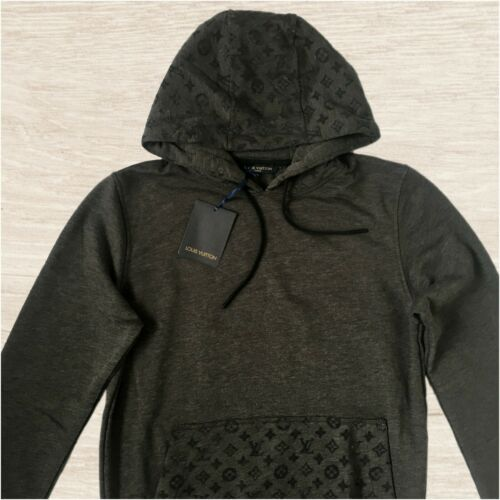Louis Vuitton Gray Hoodie With Gray Monograms LV S