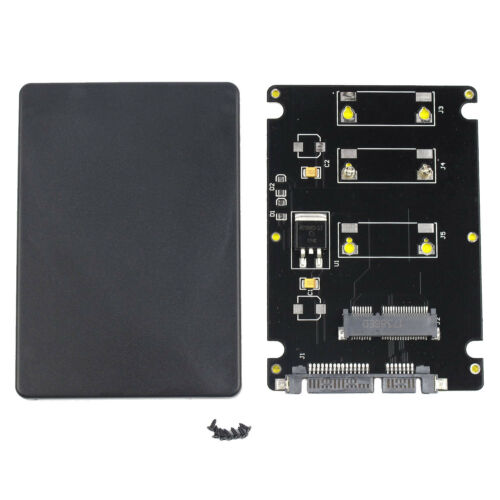 """Mini Pcie mSATA SSD to 2.5/"""" SATA3 Adapter Card with Case 7 mm Thickness"""