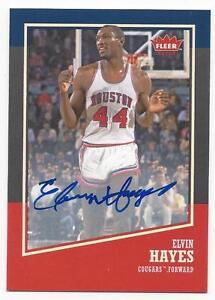 2013-14-Fleer-Retro-autographed-basketball-card-Elvin-Hayes-Houston-Cougars