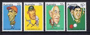 Australian-Decimal-Stamps-1981-Sporting-Personalities-Set-of-4-MNH