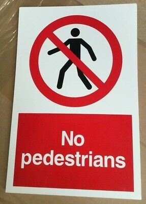 300x200mm Safety Signs Prohibition Sign-No Pedestrians