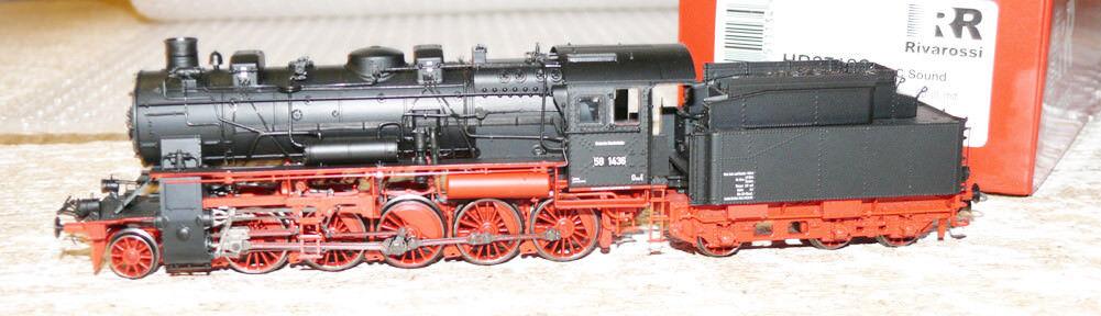 Hs Rivarossi hr2718s locomotora a vapor serie 58 1438 de la DB con sonido D C