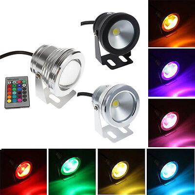 Waterproof 10W RGB/Warm/Cool White LED Underwater Lights Flood Pond Lamp 3 Style