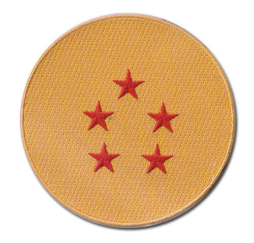 """Dragon Ball Z 5 Star Ball Embroidered Patch 3.75/"""" Licensed by GE Animation 44125"""