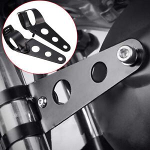 2x-Motorrad-Scheinwerfer-Halter-Lampenhalter-Scheinwerfer-Halterung-34mm-46mm