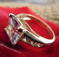 2 Carats Princess Cut Man Made Diamond Engagement Wedding Ring 14k White Gold