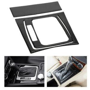 Carbon-Fiber-Console-Gear-Shift-Box-Trim-Cover-For-07-14-Benz-C-Class-W204-S204