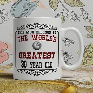 Image Is Loading 30th Birthday Gift Mug Happy 30 Present Idea
